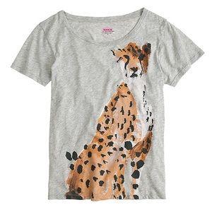 Donald Robertson x J. Crew cheetah t-shirt